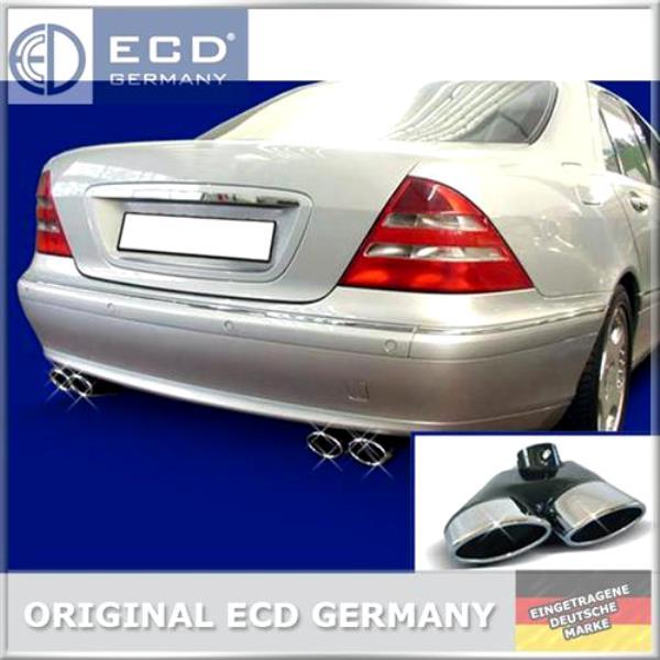 2X2-ECD-ENDROHR-AUSPUFFBLENDE-AMG-STYLE-MERCEDES-W220-S350