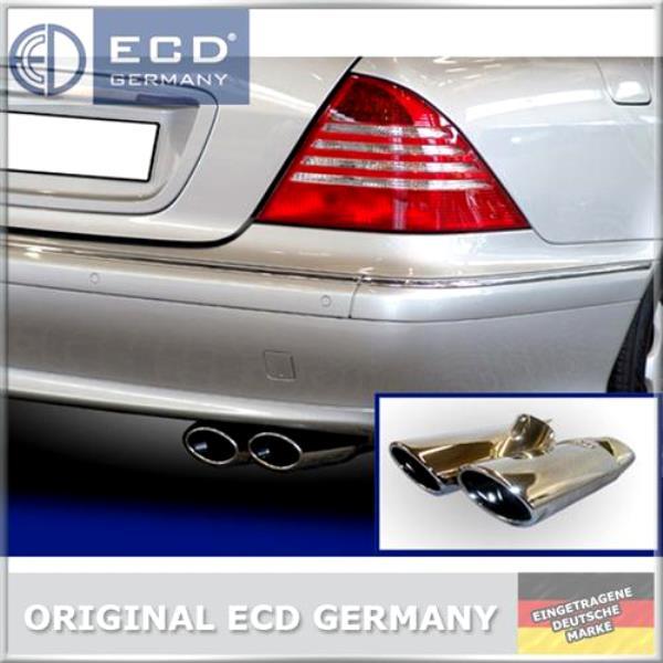 TERMINALE-DI-SCARICO-Mascherina-scarico-AMG-Style-MERCEDES-CLASSE-S-w220-s400-CDI-s430-s500-4-MATIC
