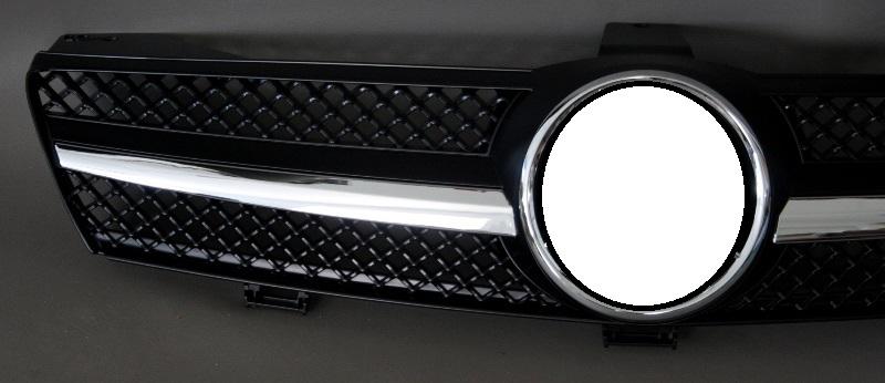 grill k hlergrill mercedes w219 cls gl nzend schwarz. Black Bedroom Furniture Sets. Home Design Ideas