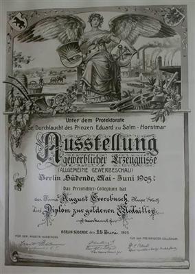 Urkunde 1905