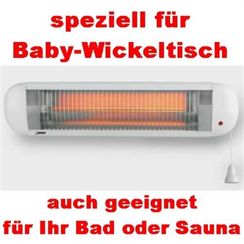 infrarot heizstrahler babyheizung wickeltischheizer strahler baby heizer heizung ebay. Black Bedroom Furniture Sets. Home Design Ideas