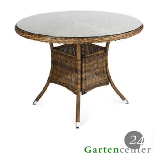 polyrattan tisch gartenm bel gartentisch sitzgruppe rattan esstisch 4013 braun ebay. Black Bedroom Furniture Sets. Home Design Ideas