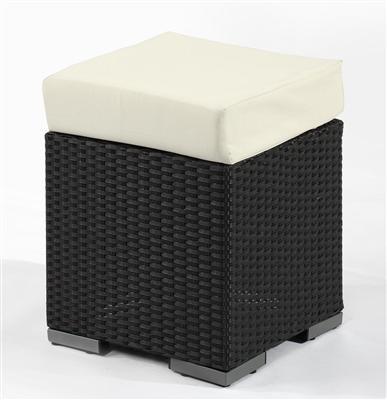 polyrattan hocker stuhl sitzw rfel gartenm bel gartensessel sessel 5061 schwarz ebay. Black Bedroom Furniture Sets. Home Design Ideas