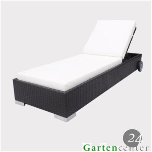 polyrattan liege gartenliege sonnenliege lounge gartenm bel 6014 braun ebay. Black Bedroom Furniture Sets. Home Design Ideas