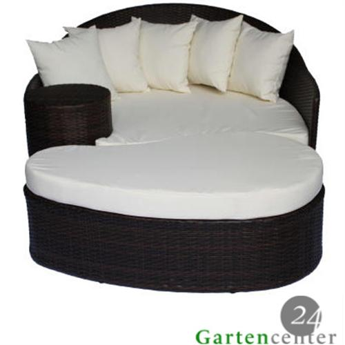 polyrattan liegeinsel liege lounge gartenliege gartenm bel 6023 braun. Black Bedroom Furniture Sets. Home Design Ideas