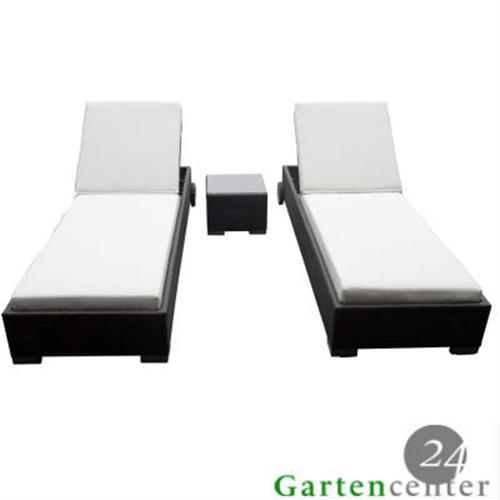 liege set sonnenliege gartenm bel sonnenbank polyrattan liegenset 6026 braun ebay. Black Bedroom Furniture Sets. Home Design Ideas