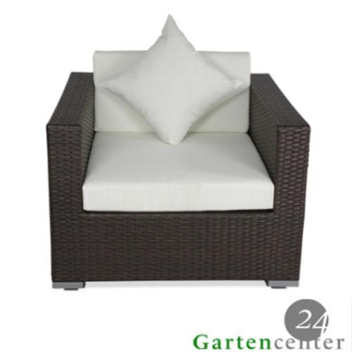Polyrattan Lounge Sessel Schwarz ~  SesselSofasesselHockerSitzStuhlSofaGartenmoebelLoungeschwarz