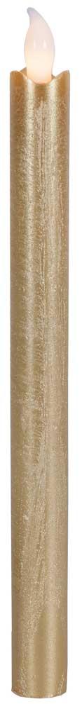 led kerzen stabkerzen wachs 2er set gold silber rot glim bewegliche flamme 25cm ebay. Black Bedroom Furniture Sets. Home Design Ideas