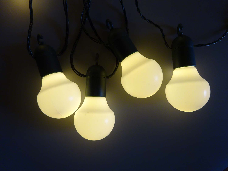 led lichterkette party biergarten 20 o 50 leds warmwei o kaltwei f au en ebay. Black Bedroom Furniture Sets. Home Design Ideas