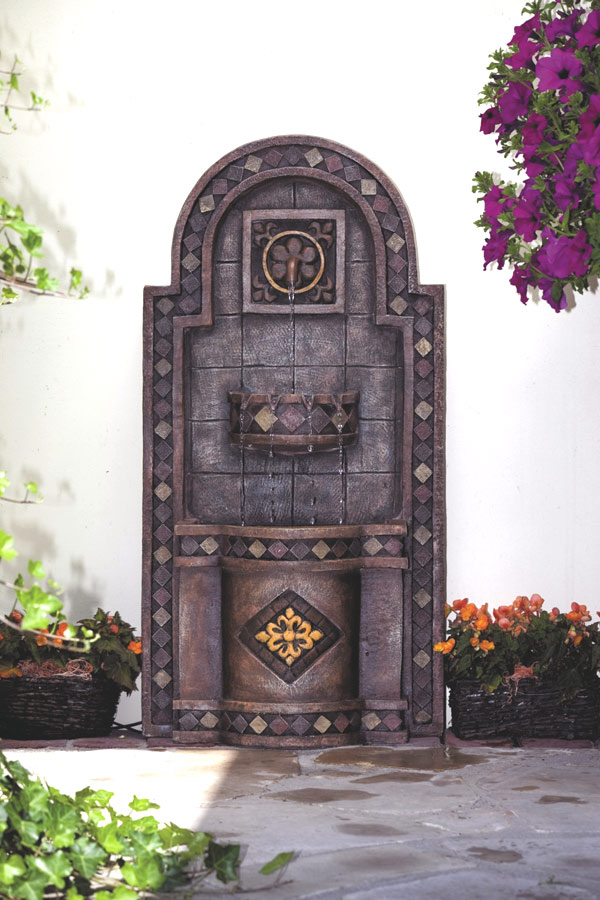 garten brunnen mit beleuchtung zierbrunnen inkl pumpe ebay. Black Bedroom Furniture Sets. Home Design Ideas
