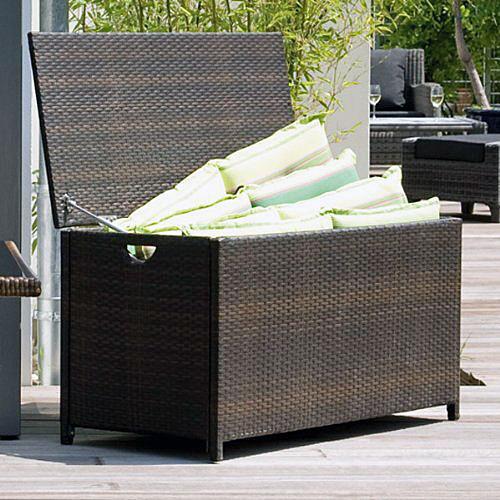 auflagenbox kissenbox gartenbox truhe argos polyrattan ebay. Black Bedroom Furniture Sets. Home Design Ideas