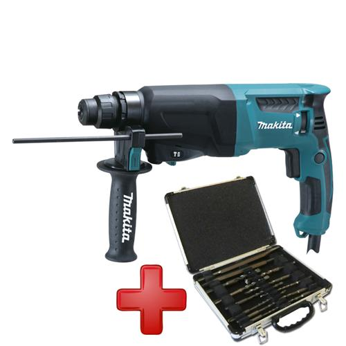 makita hr2610 kombihammer stemmhammer bohrhammer sds bohrer mei elset d20111 ebay. Black Bedroom Furniture Sets. Home Design Ideas