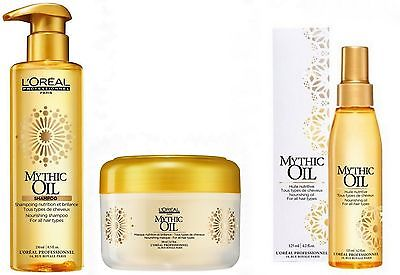 L'oreal Expert Mythic Oil Trio Shampoo 250ml + Mask 200ml + Oil 125ml
