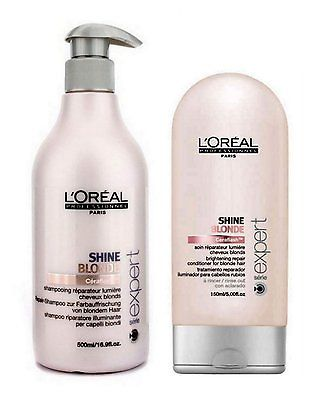 L'oreal Expert Shine Blonde Duo Shampoo 500ml + Intensivpflege 150ml