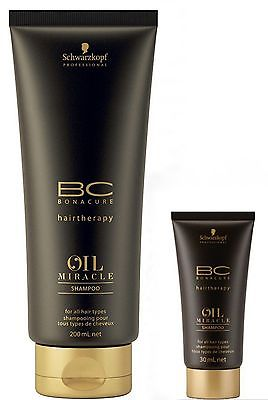 SCHWARZKOPF BC BONACURE Hairtherapy Oil Miracle Shampoo 200ml +Risegröße 30ml