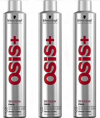 SCHWARZKOPF OSIS+ Finish Session Hairspray 3 x 500ml = 1500ml