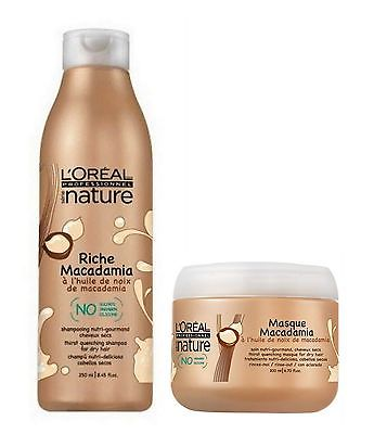 L'oreal Série Nature Riche Macadamia Shampoo 250ml + Mask 200ml