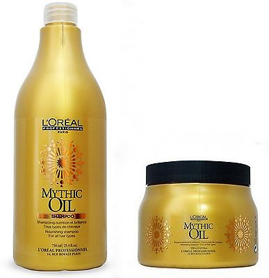 L'oreal Mythic Oil Duo Shampoo 750ml + Mask 500ml