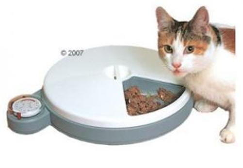 katze hund katzen futterautomat futterspender napf c 50 mit zeitschaltuhr ebay. Black Bedroom Furniture Sets. Home Design Ideas