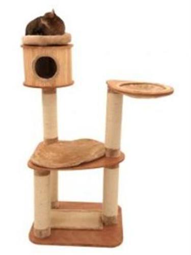 katzen kratzbaum katzenbaum katzenkratzbaum zaunk nig echtes holz sisal. Black Bedroom Furniture Sets. Home Design Ideas
