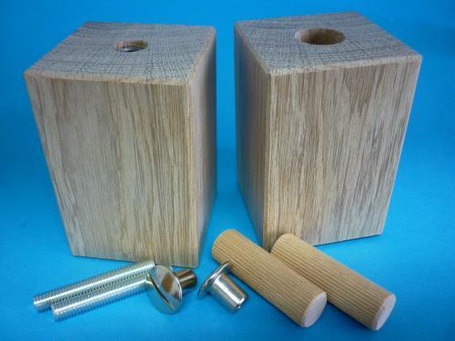 set holzf e m belf e quadratisch 60x60x90 mm holzart w hlbar