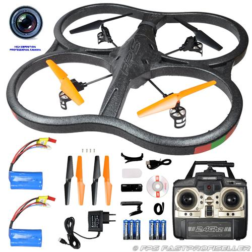 rc drohne quadrocopter ufo drone xxl 60 cm mit 720p hd. Black Bedroom Furniture Sets. Home Design Ideas