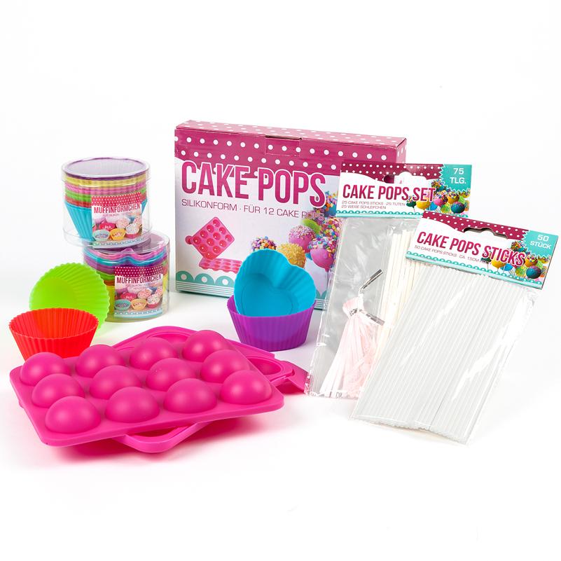 cake pops muffin form silikon backform stiele popcake sticks lollipop. Black Bedroom Furniture Sets. Home Design Ideas