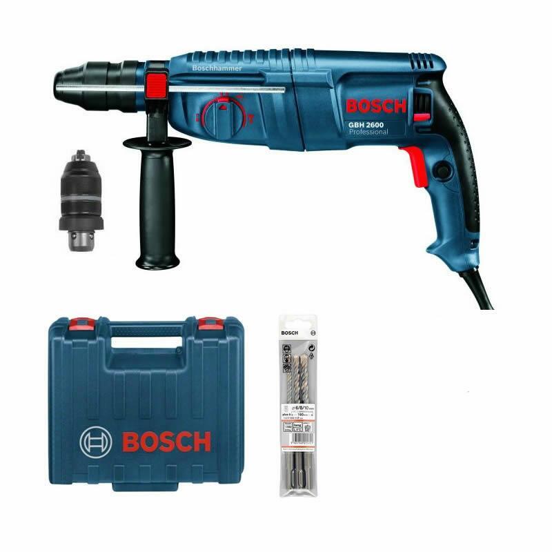 bosch gbh 2600 bohrer set bohrhammer mit wechselfutter alternat 2 26 3 28 ebay. Black Bedroom Furniture Sets. Home Design Ideas