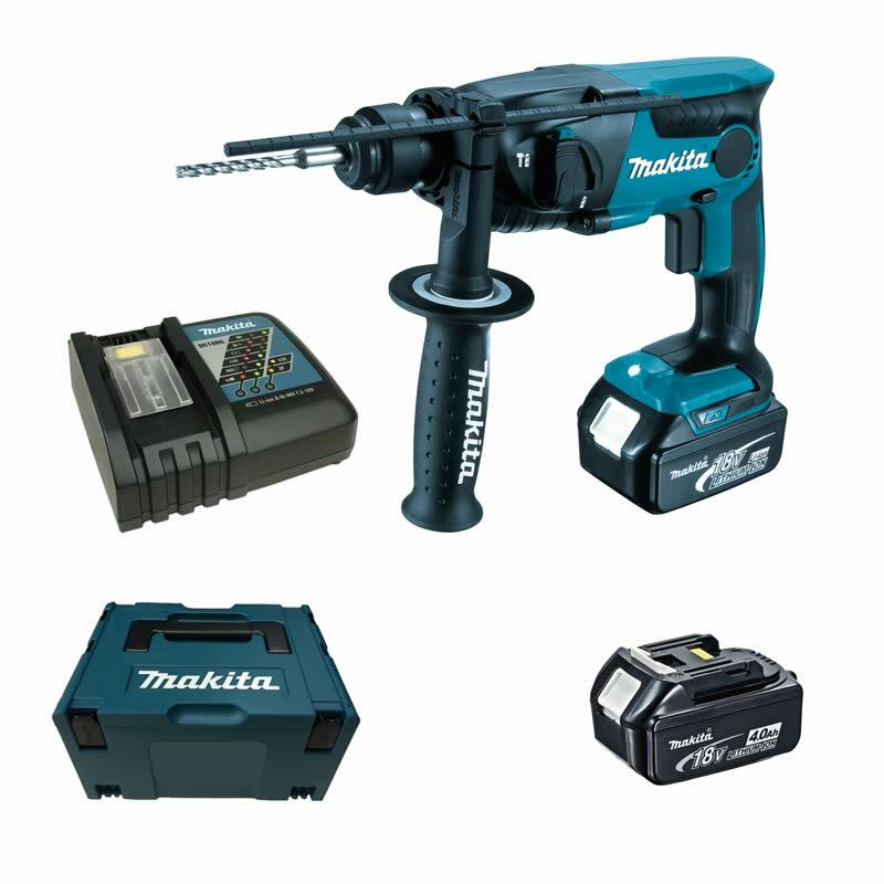 makita dhr165rmj dhr165 rmj 2 x 4 0 ah im makpac akku bohrhammer 18v ebay. Black Bedroom Furniture Sets. Home Design Ideas