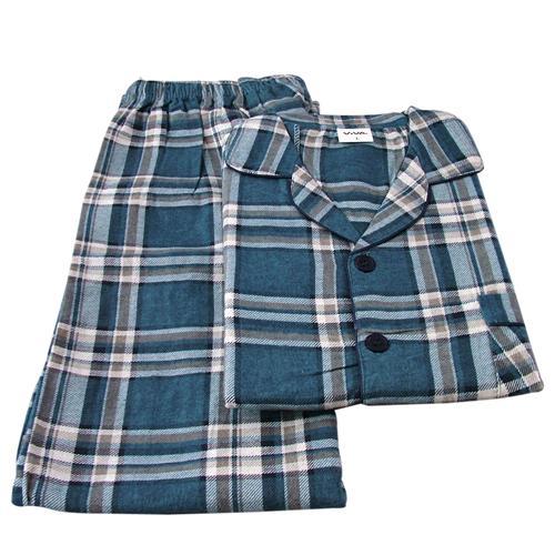Herren-Flanell-Pyjama-Schlafanzug-aus-100-Baumwolle-Gr-S-M-L-XL-XXL