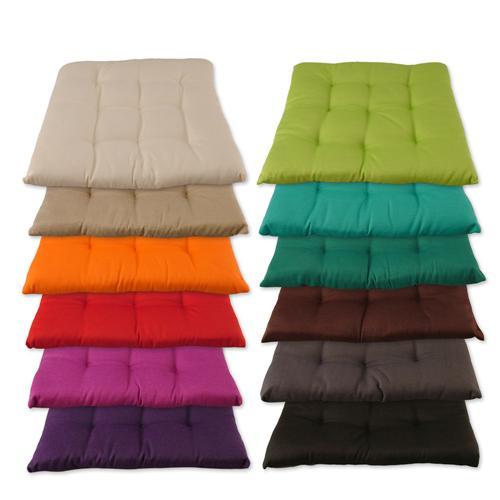 stuhlkissen 12 farben kissen sitzkissen top qualit t 40 x 40 cm ebay. Black Bedroom Furniture Sets. Home Design Ideas