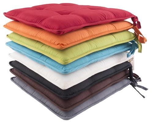 stuhlkissen jana kissen sitzkissen sitzpolster auflage 40 x 40 x 4 cm 8 farben ebay. Black Bedroom Furniture Sets. Home Design Ideas