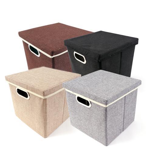 aufbewahrungsbox faltbox mit decken und griff stoffbox viva 27 x 28 x 30 cm ebay. Black Bedroom Furniture Sets. Home Design Ideas