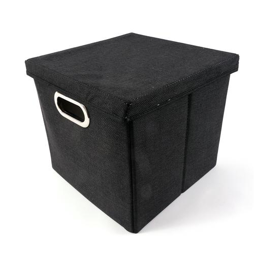 aufbewahrungsbox faltbox mit decken und griff stoffbox viva 27 x 28 x 30 cm ebay. Black Bedroom Furniture Sets. Home Design Ideas