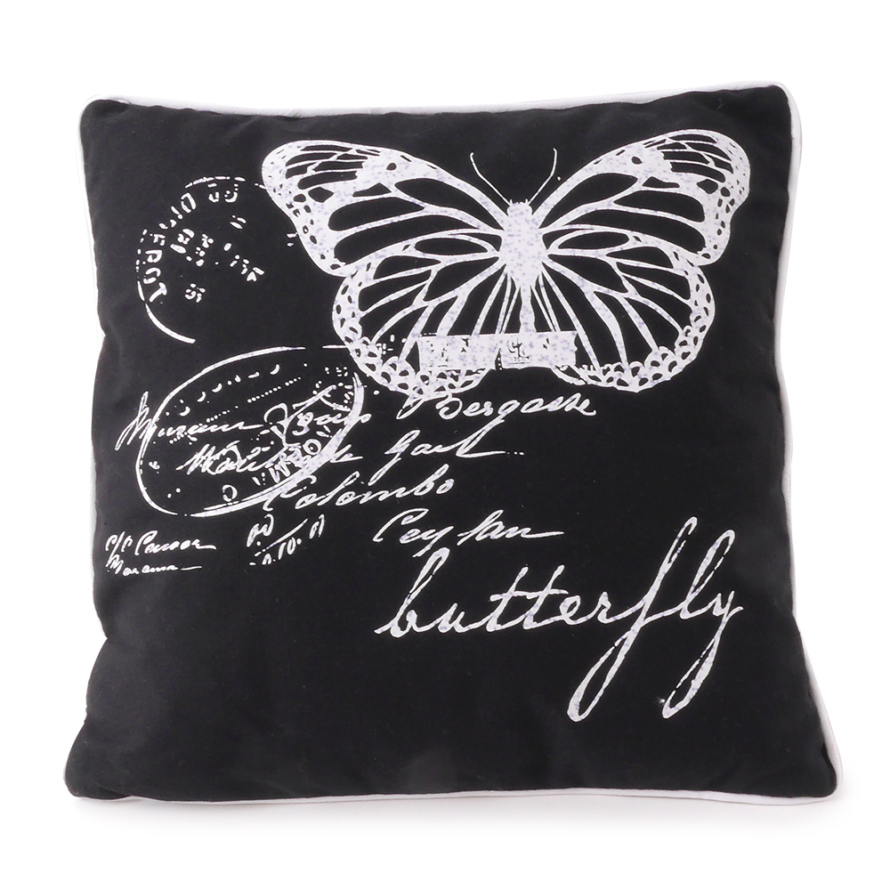 dekokissen schmetterling butterfly 45 x 45 cm mit f llung kissen ebay. Black Bedroom Furniture Sets. Home Design Ideas