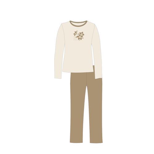 damen schlafanzug pyjama lang s m l xl 36 38 40 42 44 46. Black Bedroom Furniture Sets. Home Design Ideas