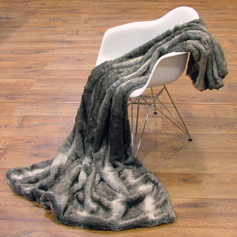 blanket fur blanket in fur look coat faux 150 x 200 cm throw blanket sofa blanket ebay. Black Bedroom Furniture Sets. Home Design Ideas