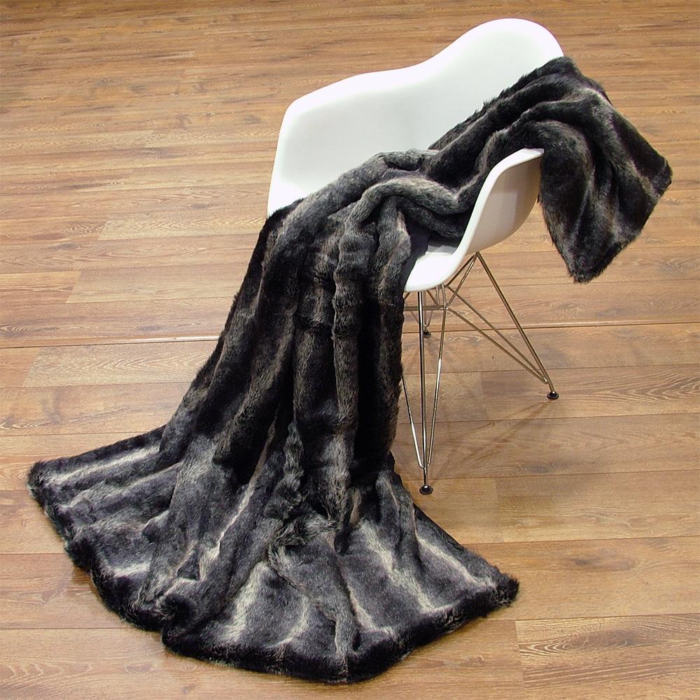 blanket fur blanket in fur look coat faux 150 x 200 cm throw blanket sofa blanket ebay. Black Bedroom Furniture Sets. Home Design Ideas