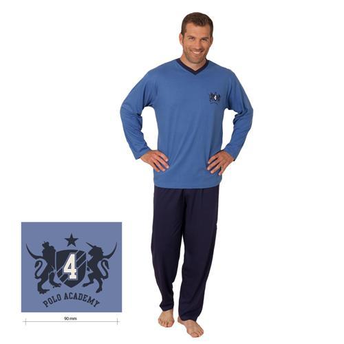 Herren-Schlafanzug-Pyjama-lang-M-L-XL-48-50-52-54-56-58-100-Baumwolle