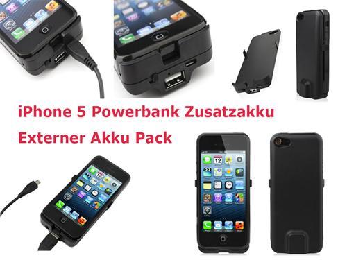 2800 mah externer akku iphone 5 zusatzakku case h lle etui power pack schwarz ebay. Black Bedroom Furniture Sets. Home Design Ideas