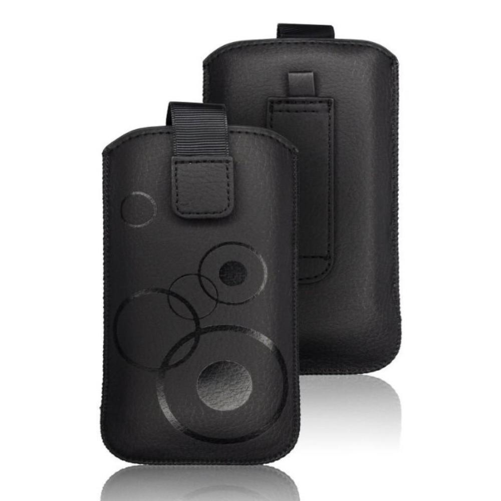 Forcell Deko Etui für LG Handy Modelle Tasche Klettverschluß Ausziehband