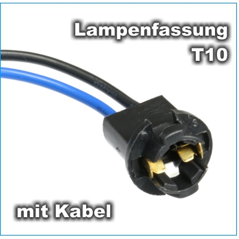 lampenfassung t10 sockel fassung w5w glassockel lampen birnen sockel mit kabel ebay. Black Bedroom Furniture Sets. Home Design Ideas