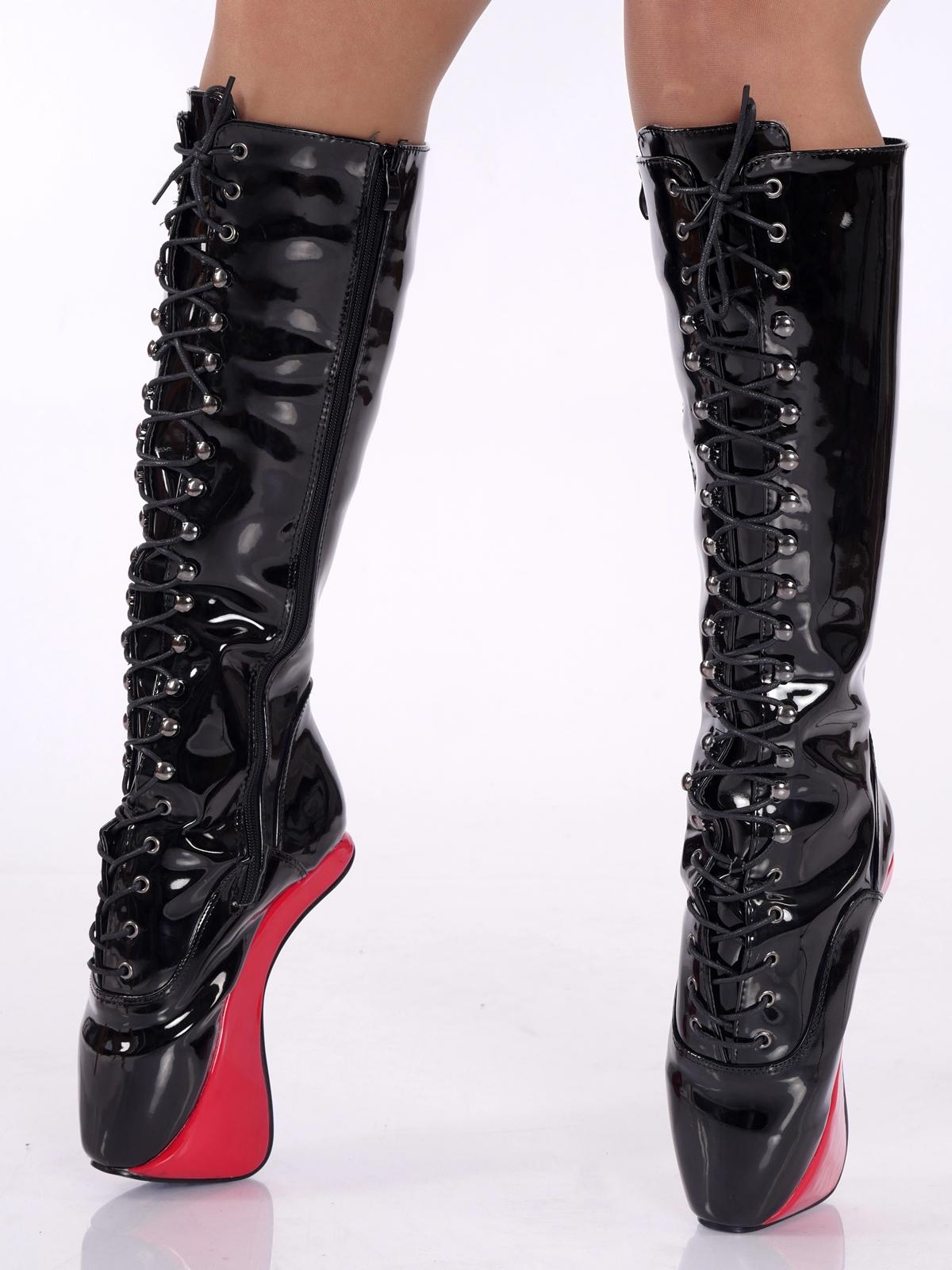 Gr Rot Details High Pony Neu 36 Crotch Heels Boots Zu 46 OverkneeOverkneeKnee Schwarz BxrdCoe