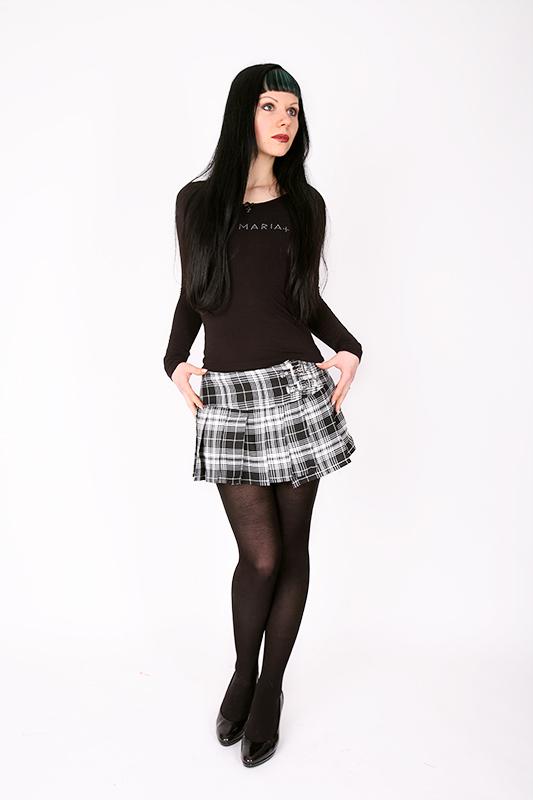 f69579beea9c Details zu Karo Minirock rot schwarz oder weiß schwarz kariert Gr S-XL NEU  Kilt Damen Rock