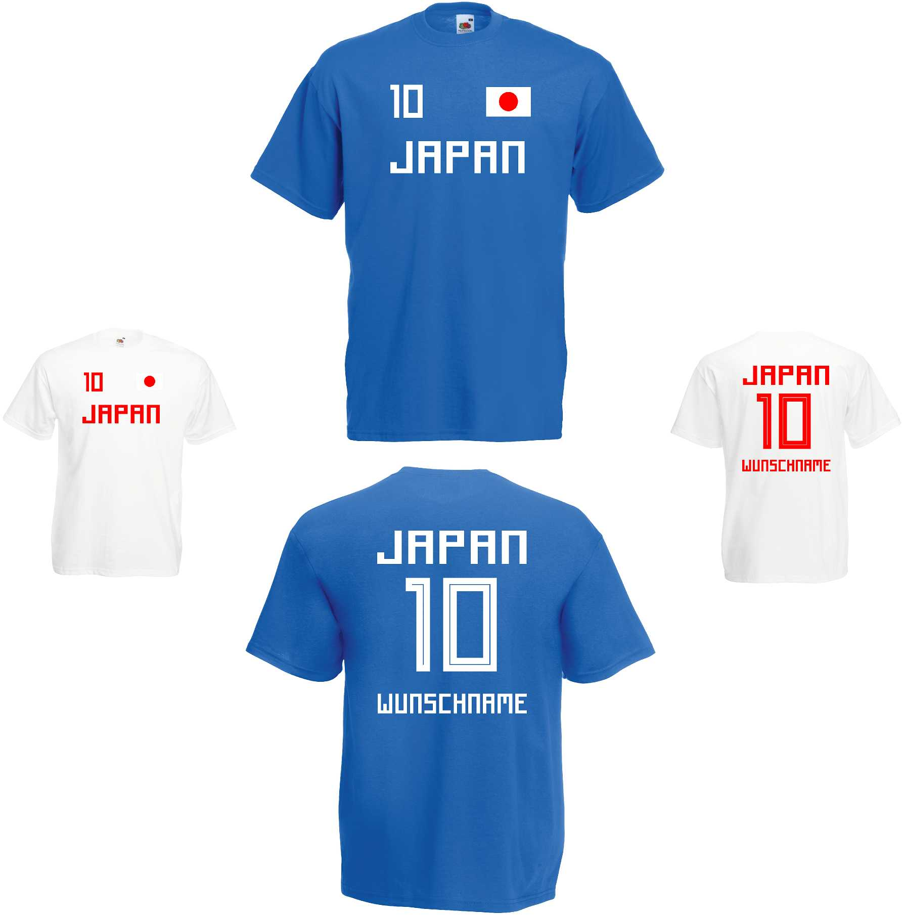 Frankreich France WM 2018 T-Shirt Trikot Look Fußball inkl.Druck  Name und Nr
