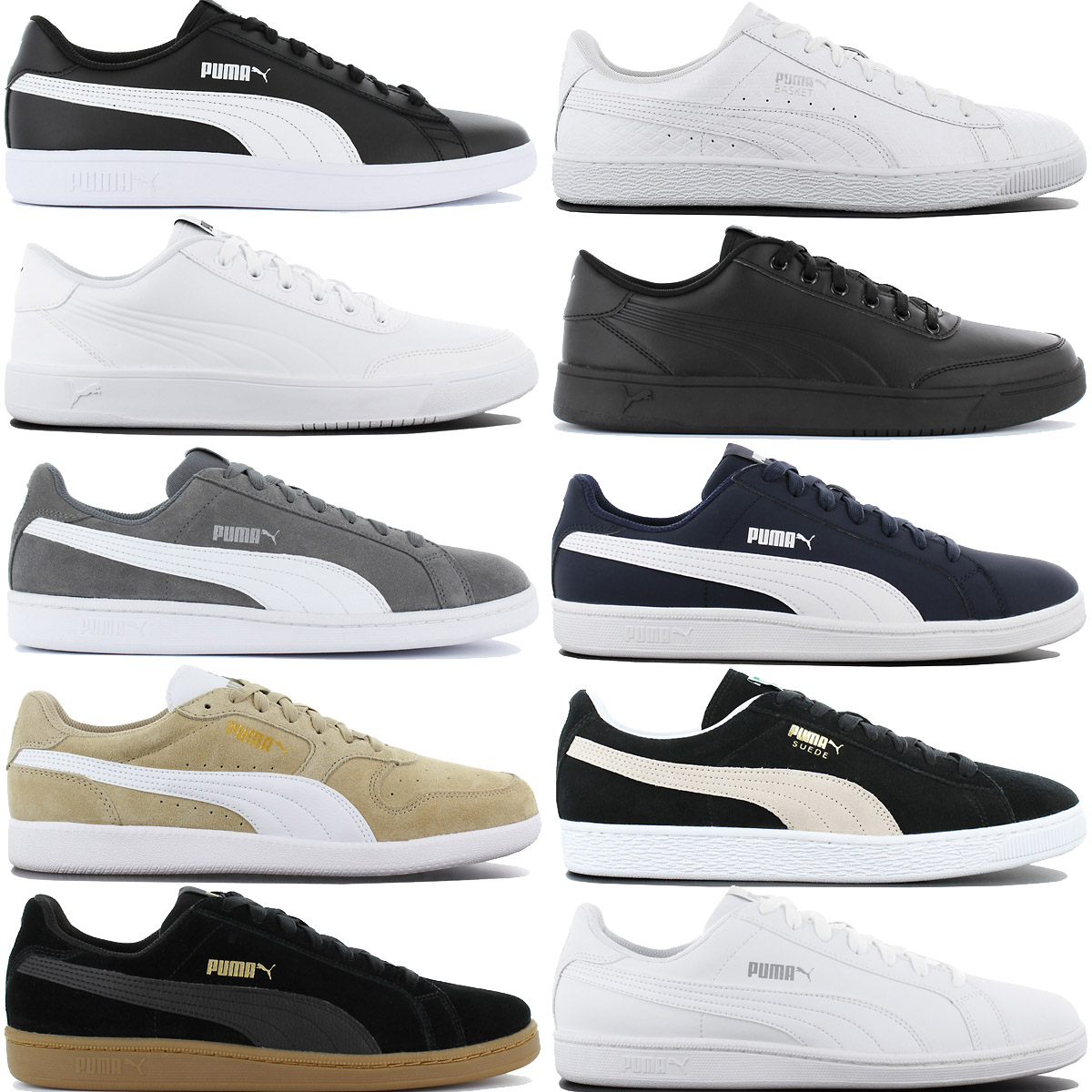 Details about Puma Men's Leather Sneaker Shoes Casual Trainers Suede Classic Suede New