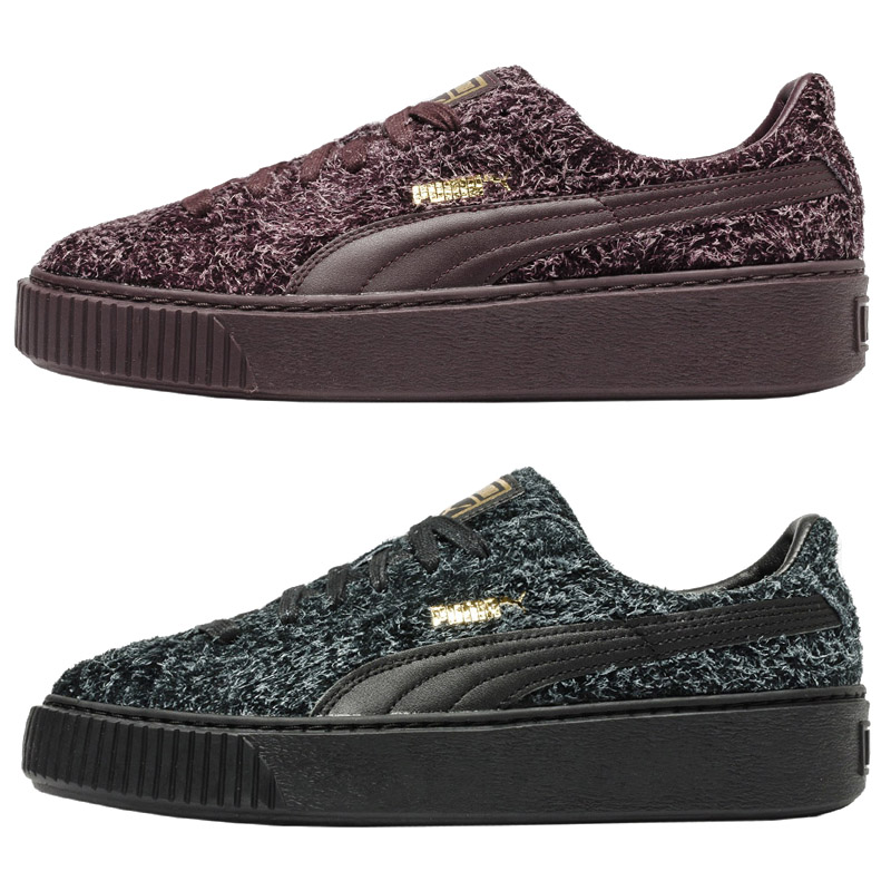 Details about Puma Women's Sneaker Suede Platform Elemental Leather Platform Shoes Leisure New