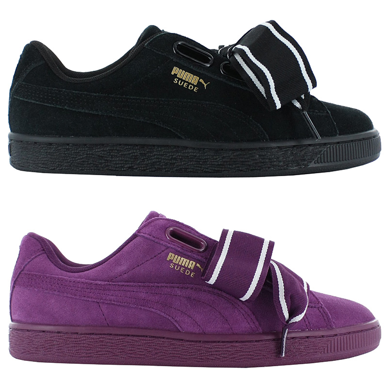 f377c64789d3a Puma Suede Heart Satin II 2 Shoes Women s Sneakers Leather Leisure ...