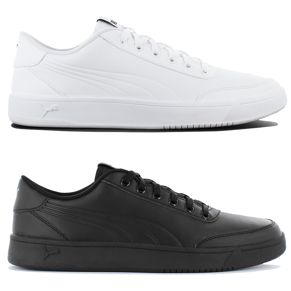Details about Puma Court Breaker Leather Mono Men's Sneakers Leather Trainers Sneakers