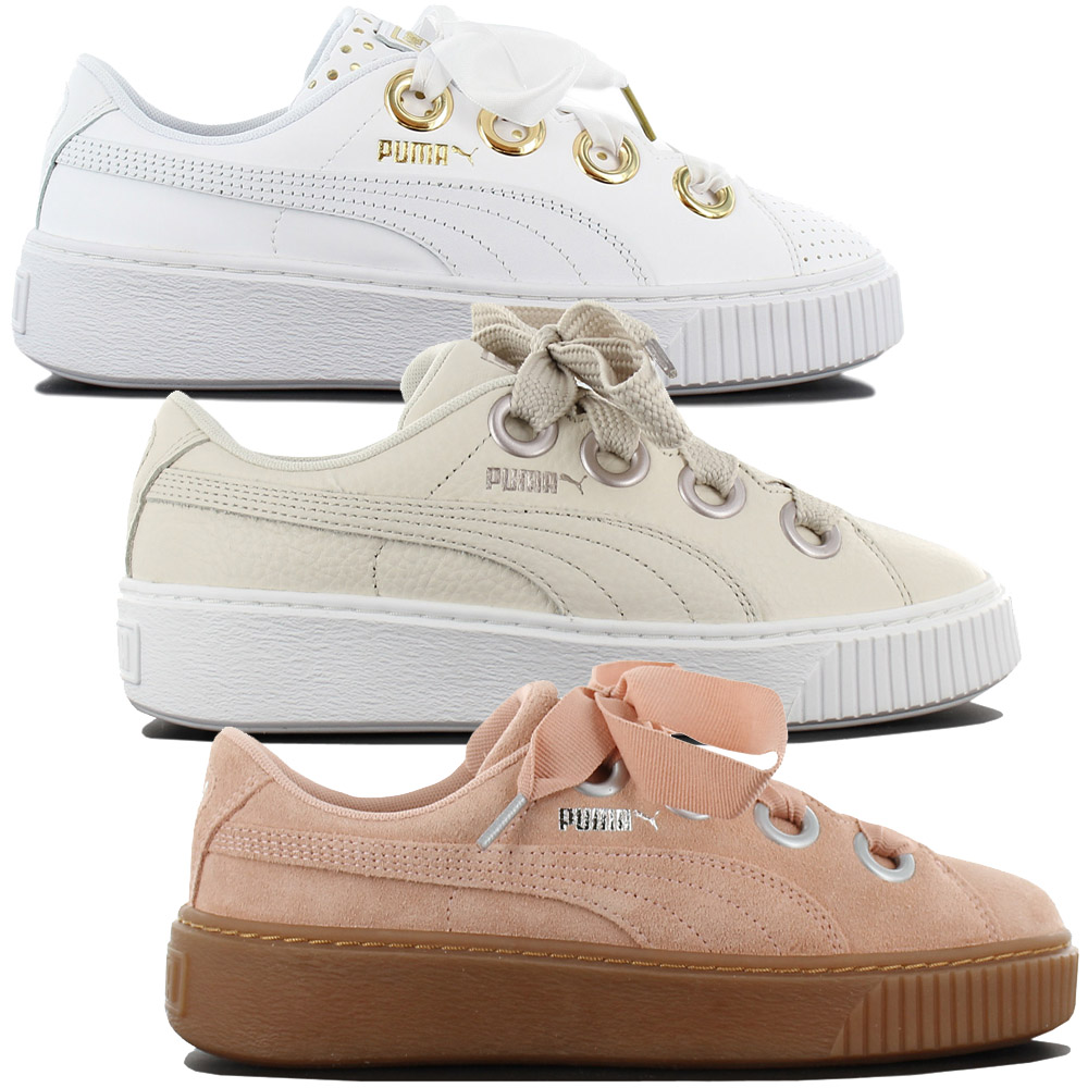 separation shoes ffb82 85e9c Details about Puma Platform Kiss Leather Women s Sneakers Fashion Shoes  Leather Gym Shoe New